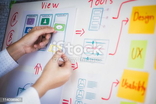 1182469817istockphoto Creative development of programming websites for mobile applications. User experience Design concept. 1140585801