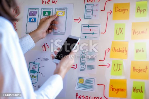 1182469817istockphoto Creative development of programming websites for mobile applications. User experience Design concept. 1140589023