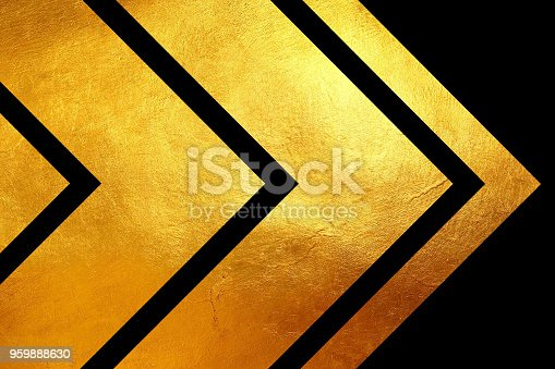 istock Creative digital abstract shiny golden texture on black background. 959888630