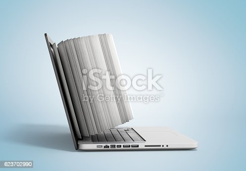 istock creative E-learning Concept Book and Laptop 3d render 623702990