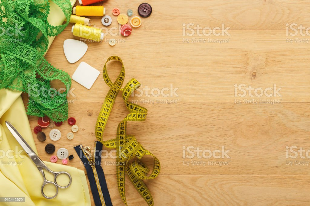 Creative Fashion Designer Table Top View Stock Photo Download Image Now Istock