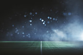 Abstract football field at night. Creative background