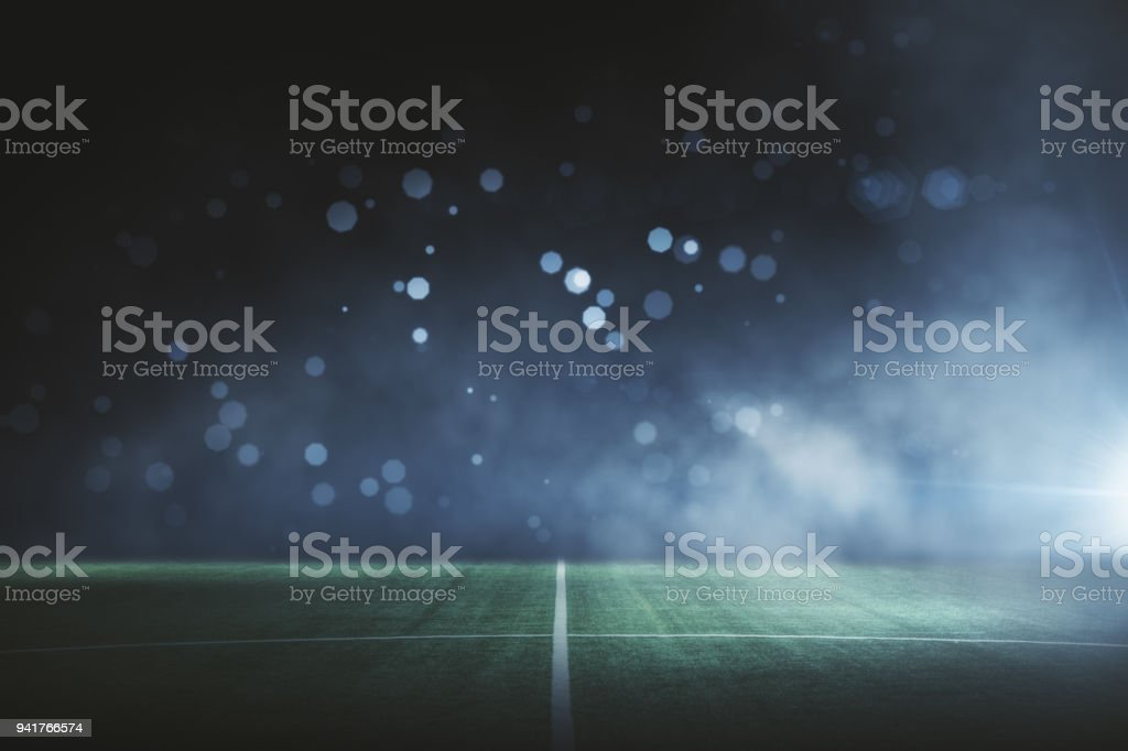 Creative football field background stock photo