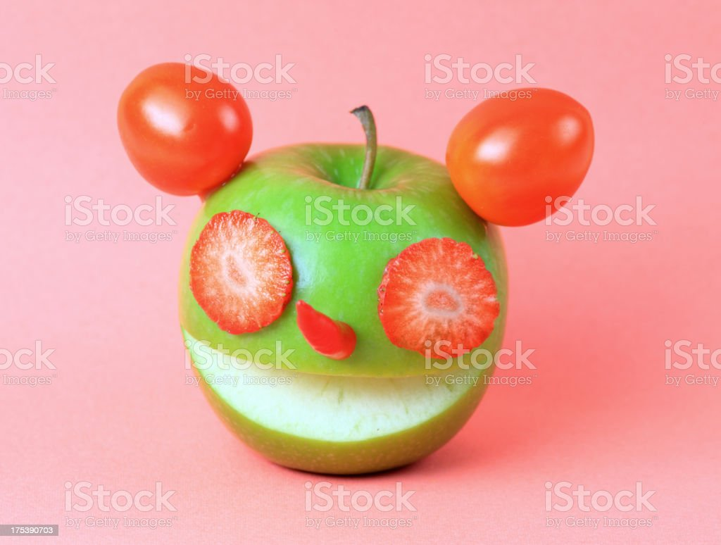 Creative fruits and vegetables royalty-free stock photo
