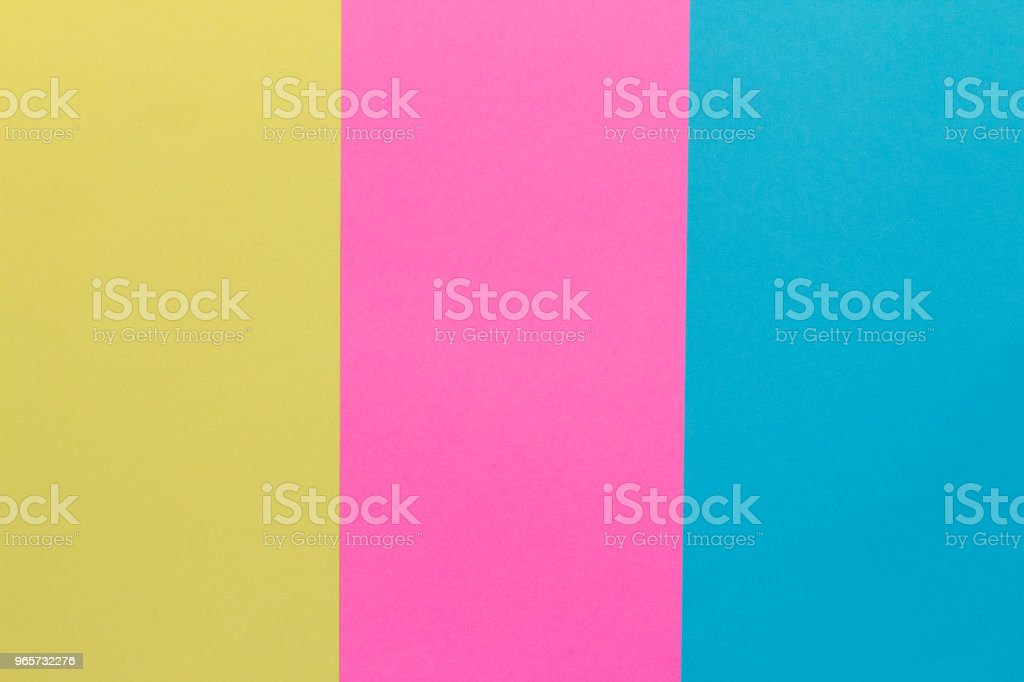 Creative geometric  paper background. Pink, blue, yellow colors. Abstraction. Template. - Royalty-free Agricultural Field Stock Photo