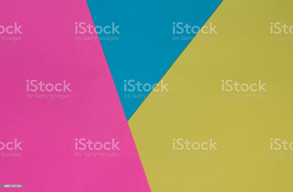 Creative geometric  paper background. Pink, blue, yellow colors. Abstraction. Template. - Royalty-free Amarelo Foto de stock