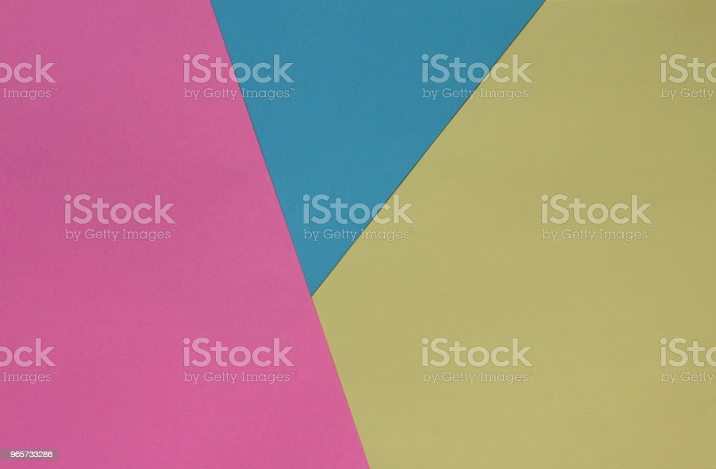 Creative geometric  paper background. Pink, blue, yellow pastel colors. Abstraction. Template. - Royalty-free Agricultural Field Stock Photo