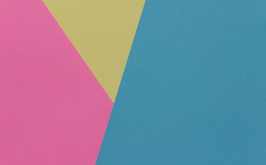 De Achtergrond Van De Creatieve Geometrische Papier Roze Blauw Geel Pastel Kleuren Abstractie Sjabloon Stockfoto en meer beelden van Achtergrond - Thema