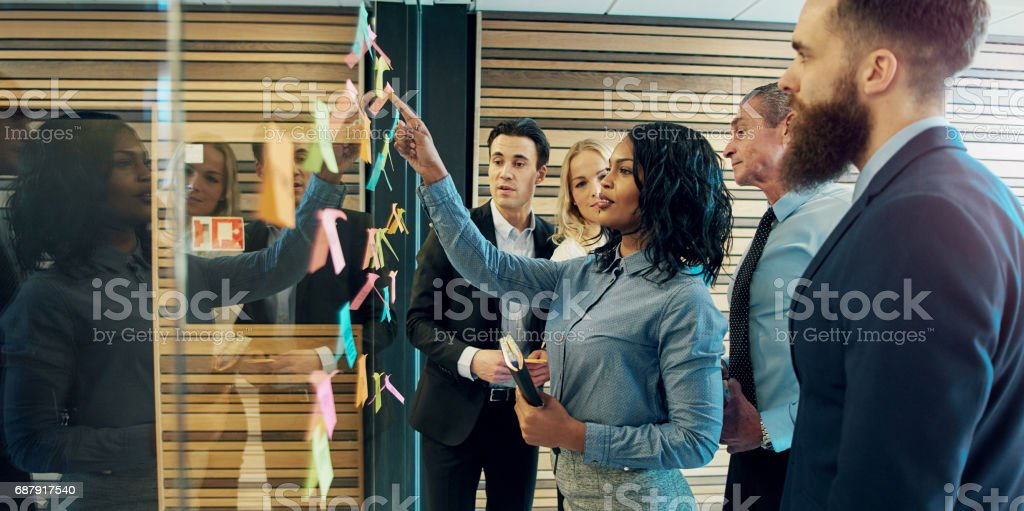 Creative group of business people royalty-free stock photo