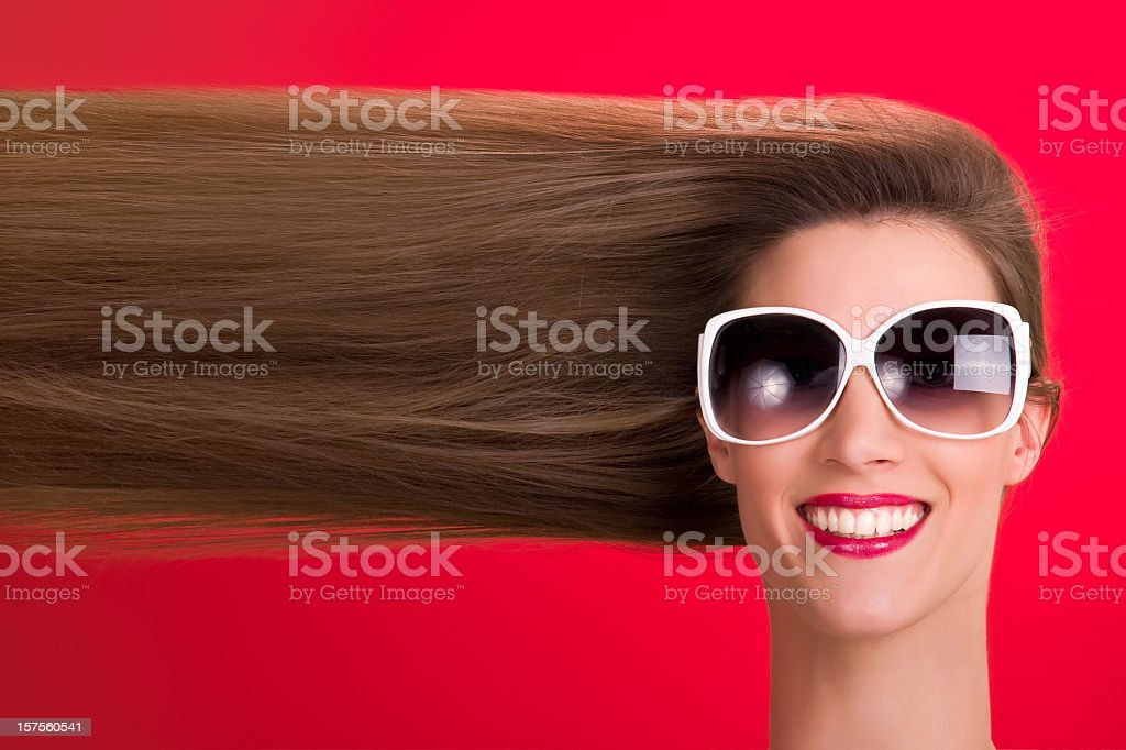 Creative hairstyle royalty-free stock photo