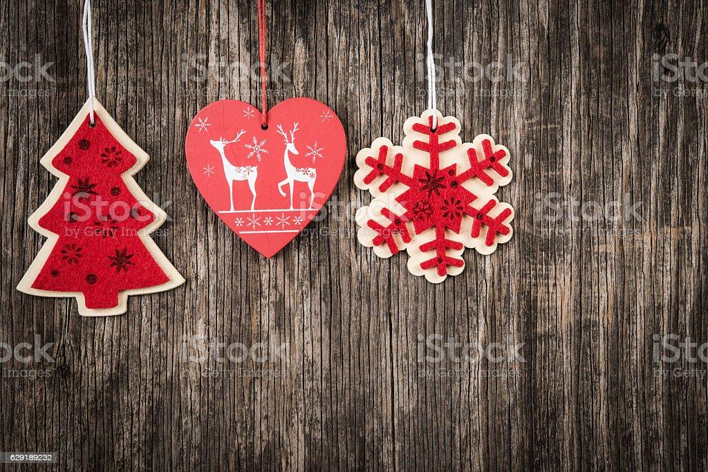 Creative Handmade Christmas Decorations Stock Photo