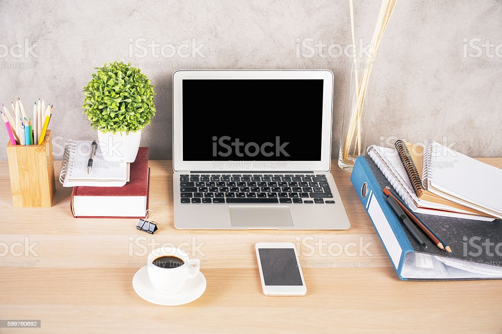 Ordinaire Creative Hipster Desk Royalty Free Stock Photo
