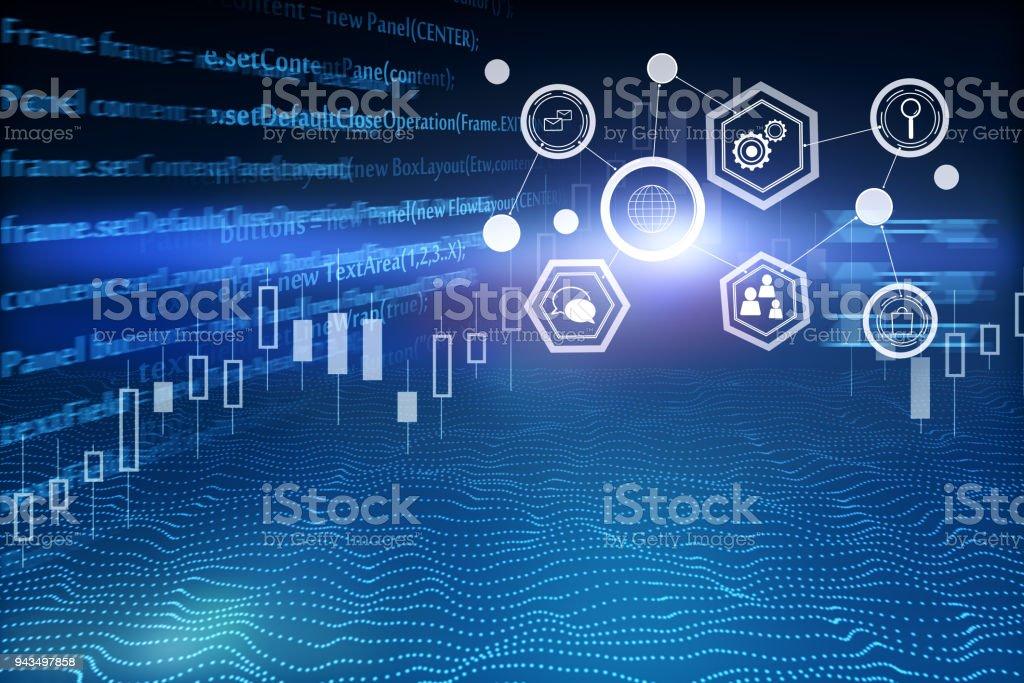 Creative HTML backdrop stock photo