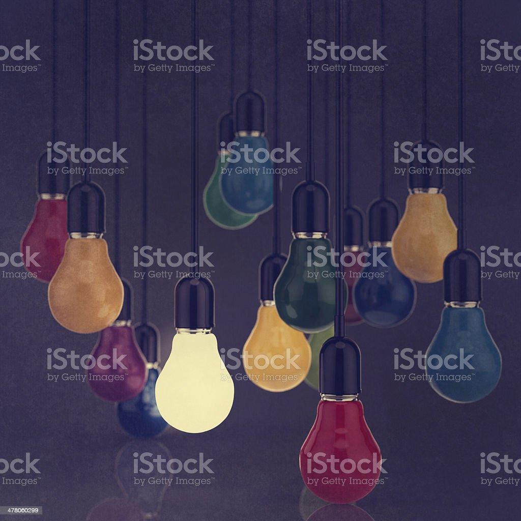 creative idea and leadership concept light bulb royalty-free stock photo