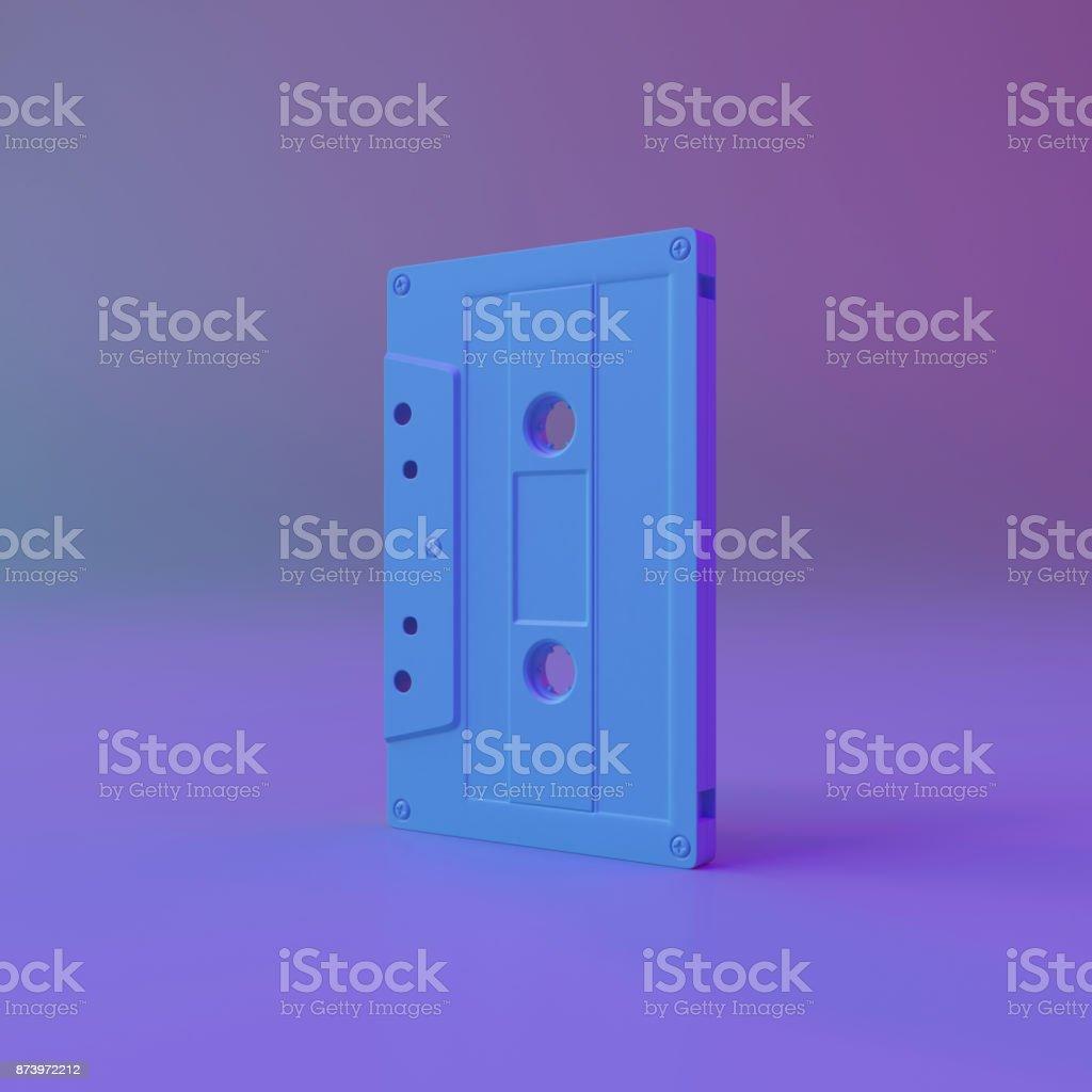 Creative Idea Cassette Tape Minimal Concept. stock photo