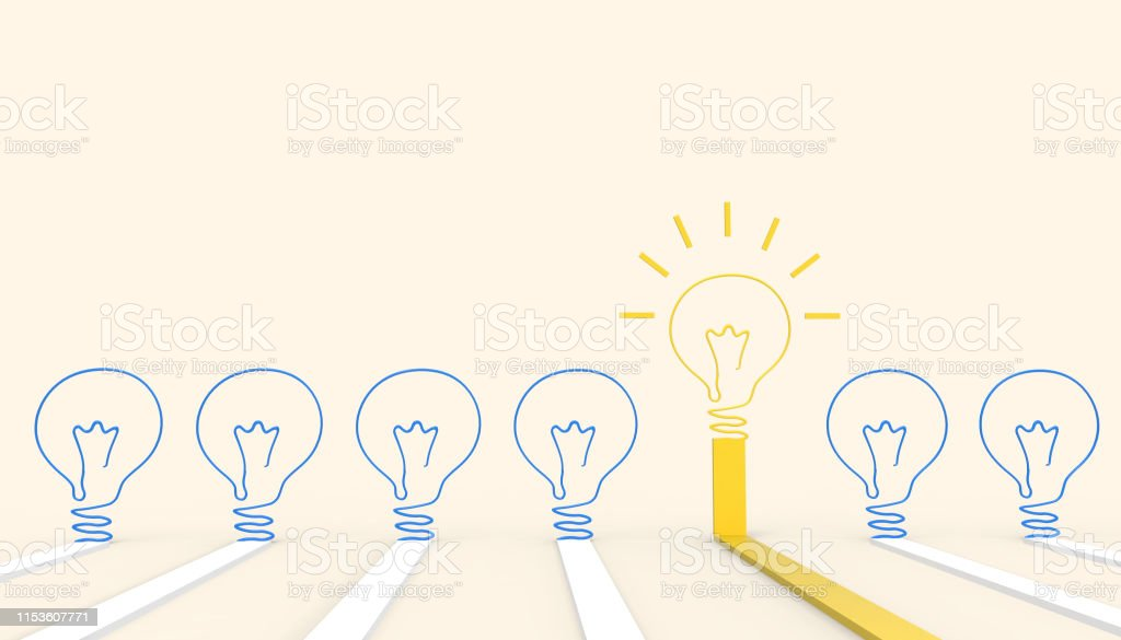 Creative idea light bulb Concept Inspiration business art style and...