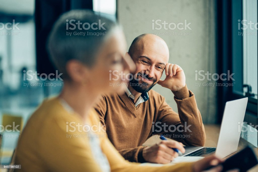 Creative ideas in a relaxed environment stock photo