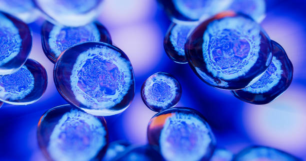 creative image of embryonic stem cells - cellula foto e immagini stock