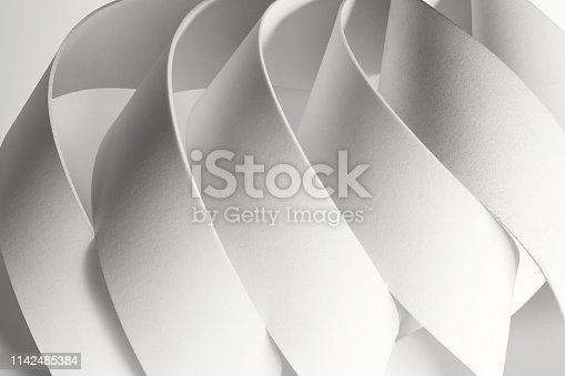 istock Creative image with curved elements, abstract 1142485384