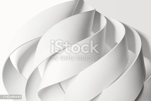 istock Creative image with curved elements, abstract 1142485443