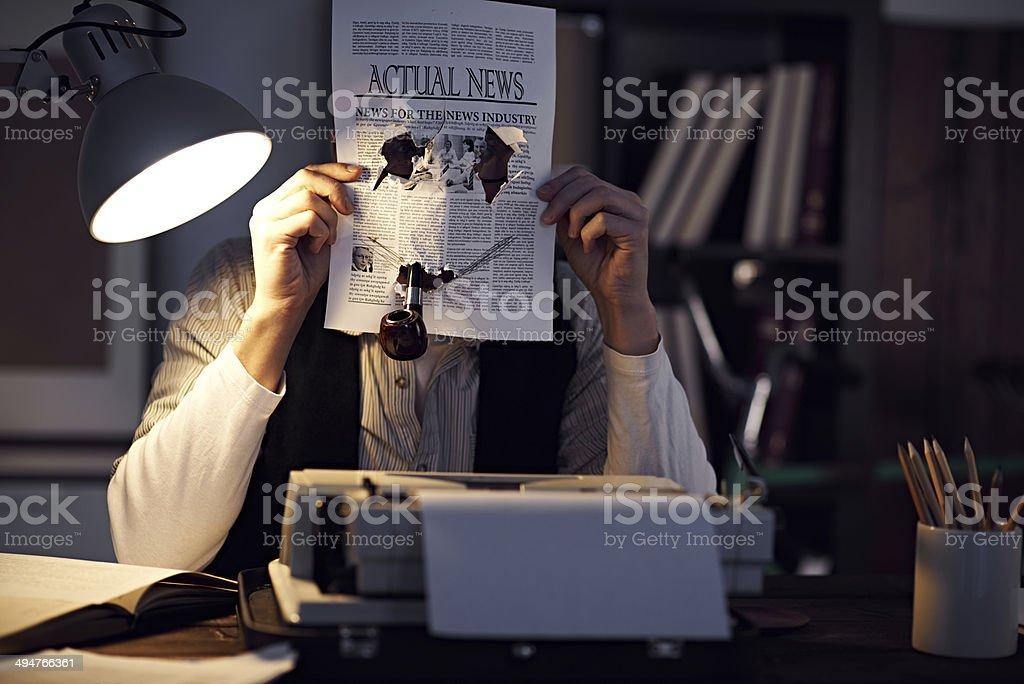 Creative journalist stock photo