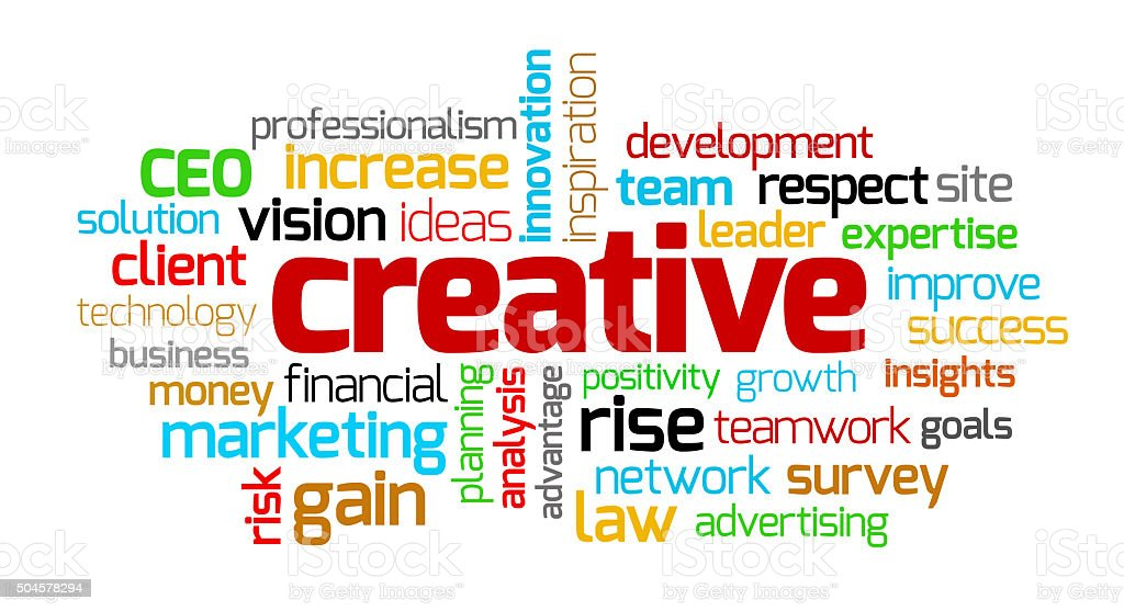 Creative Keywords stock photo