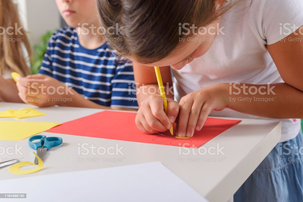 Creative projects with school children at home or at school. Kids...
