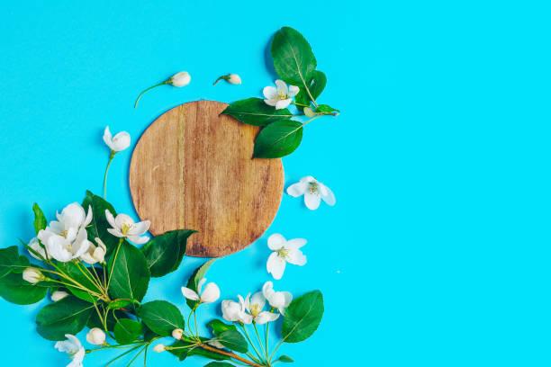 Creative layout with blooming apple tree on a blue background flat picture id1133792788?b=1&k=6&m=1133792788&s=612x612&w=0&h=nbd kdfe t8av6edzb1p9n0u mcdlnirpibxikxjv0c=