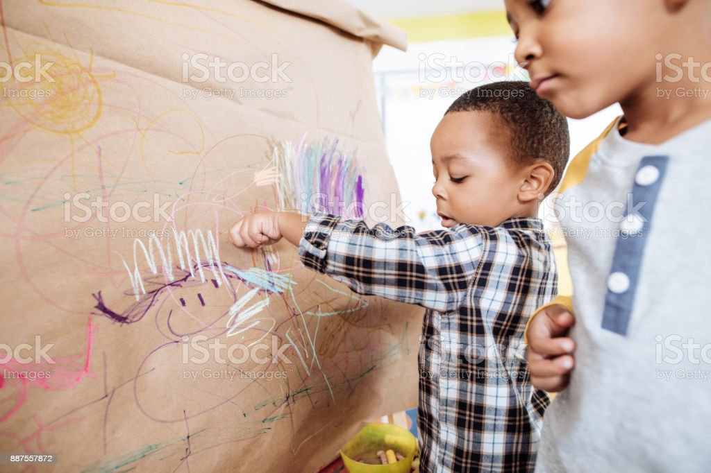 Creative Lessons For Kids In Daycare Stock Photo More Pictures Of