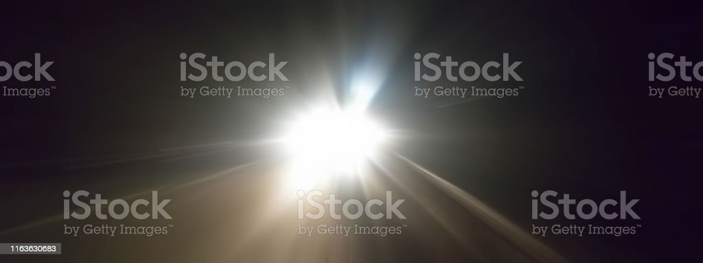 Creative light trails. Vehicle light blurred and light trails shot...