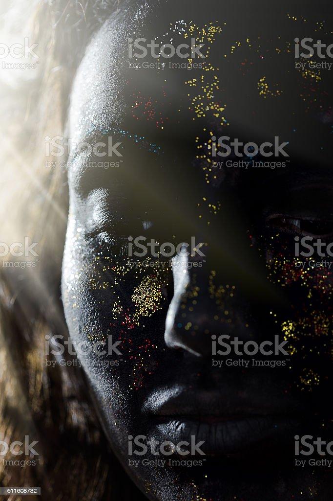 Maquiagem criativa - foto de acervo