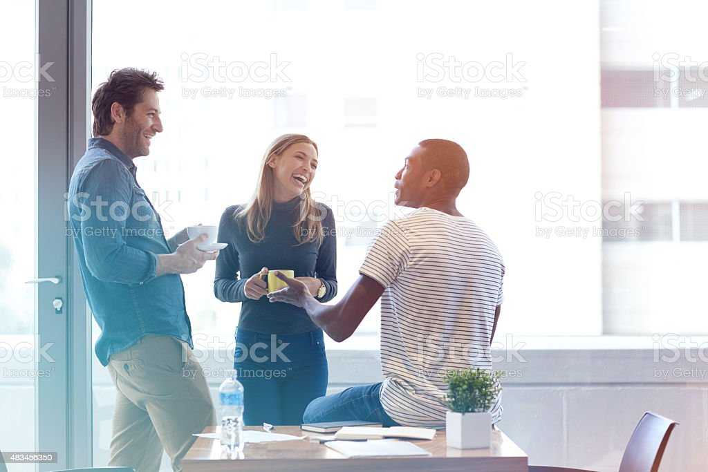 Creative minds sharing ideas stock photo