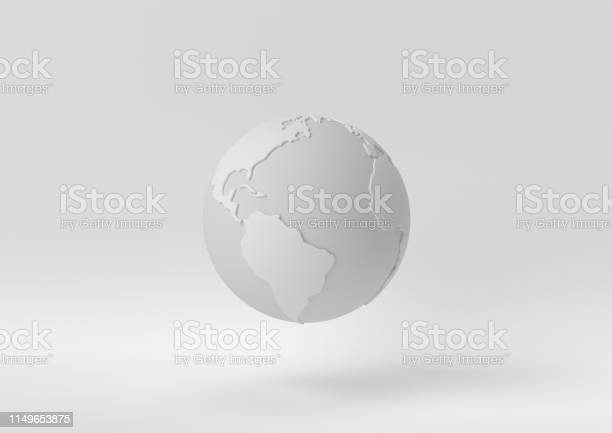 Photo of Creative minimal paper idea. Concept white world with white background. 3d render, 3d illustration.