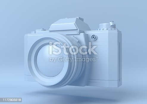istock Creative minimal summer idea. Concept blue photography with pastel background. 3d render. 1172903318