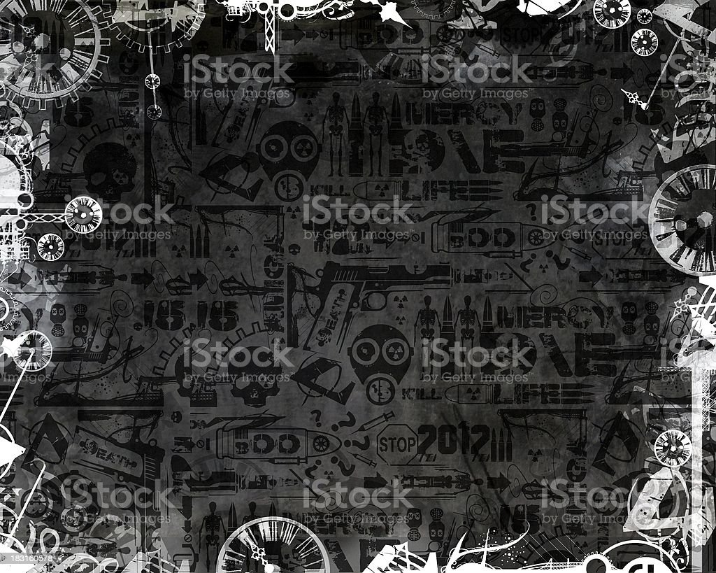Monochromatyczne zegary kreatywnych Rama tło ciemne przemysłowe – zdjęcie