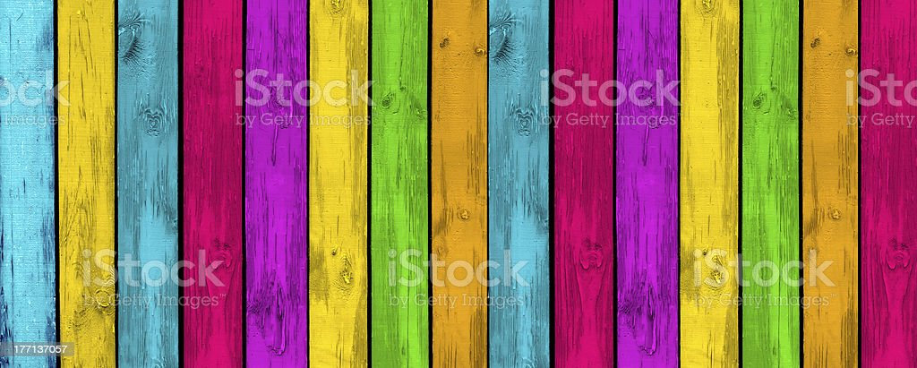 Creative Multicolored Wood Background royalty-free stock photo