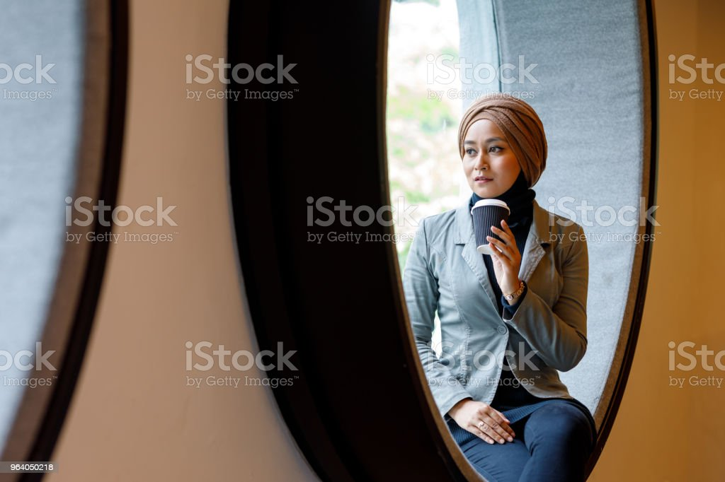 Creative Muslim Woman Designer Working On Ideas - Royalty-free Adult Stock Photo