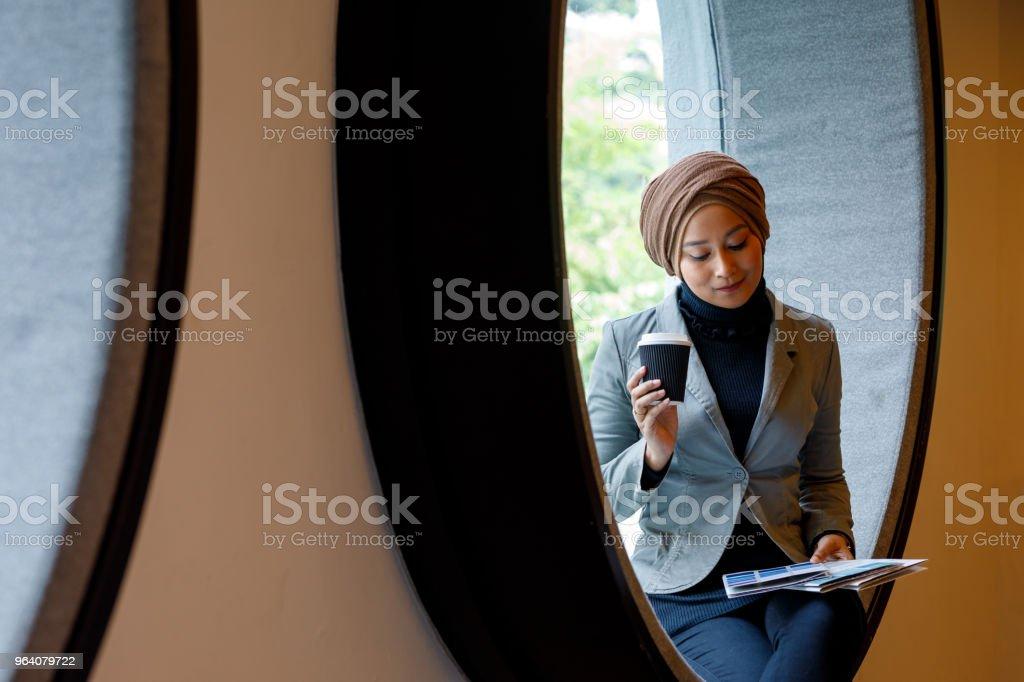 Creative Muslim Woman Designer Working On Ideas - Royalty-free Adult Stock Photo