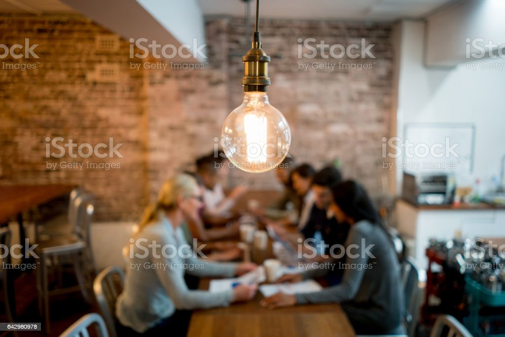 Creative office stock photo