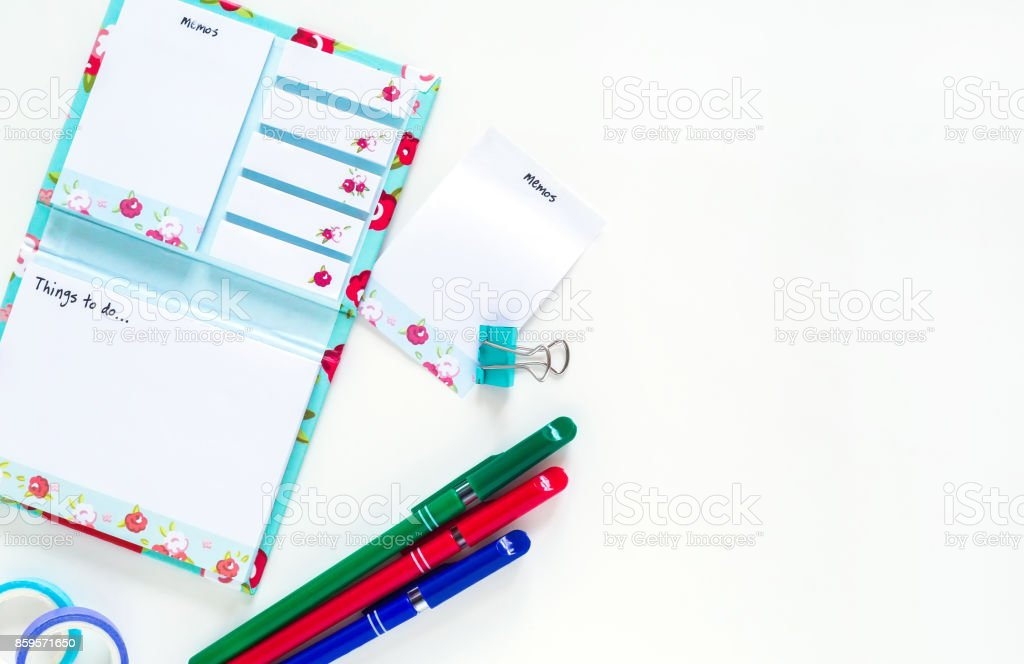 creative office supplies stock photo