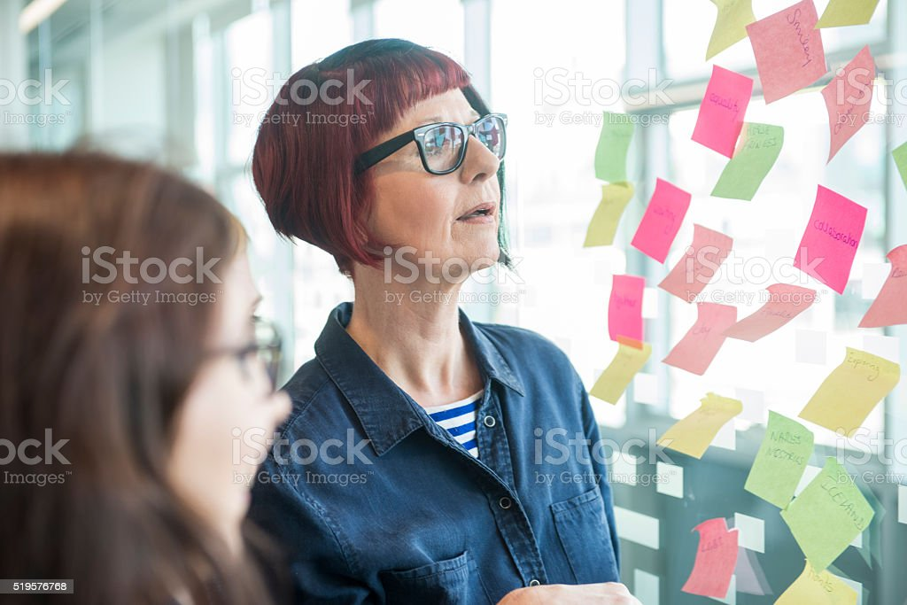 Creative office team brainstorming session royalty-free stock photo