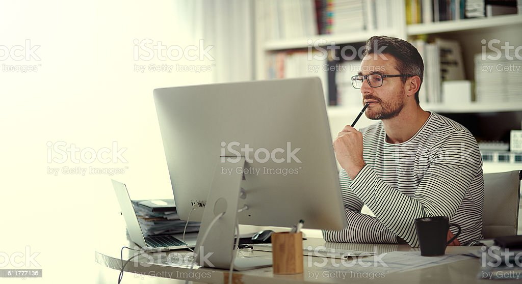 Creative people are all about ideas stock photo