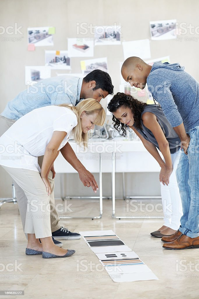 Creative people at work royalty-free stock photo