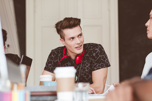 918746260 istock photo Creative people discussing in meeting 666999734