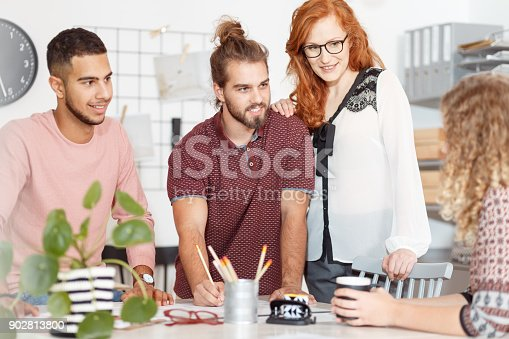 842214626istockphoto Creative people during business meeting 902813800