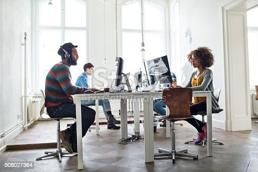 istock Creative people working at startup 508027364