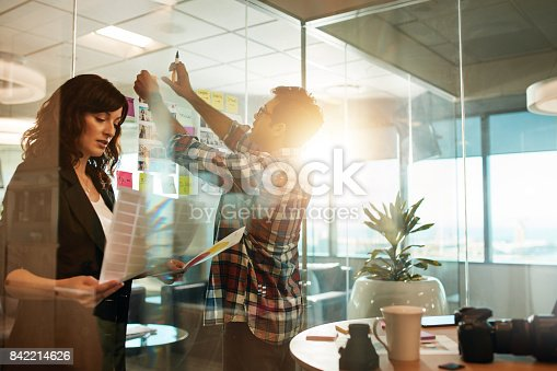 842214626istockphoto Creative people working on new project 842214626