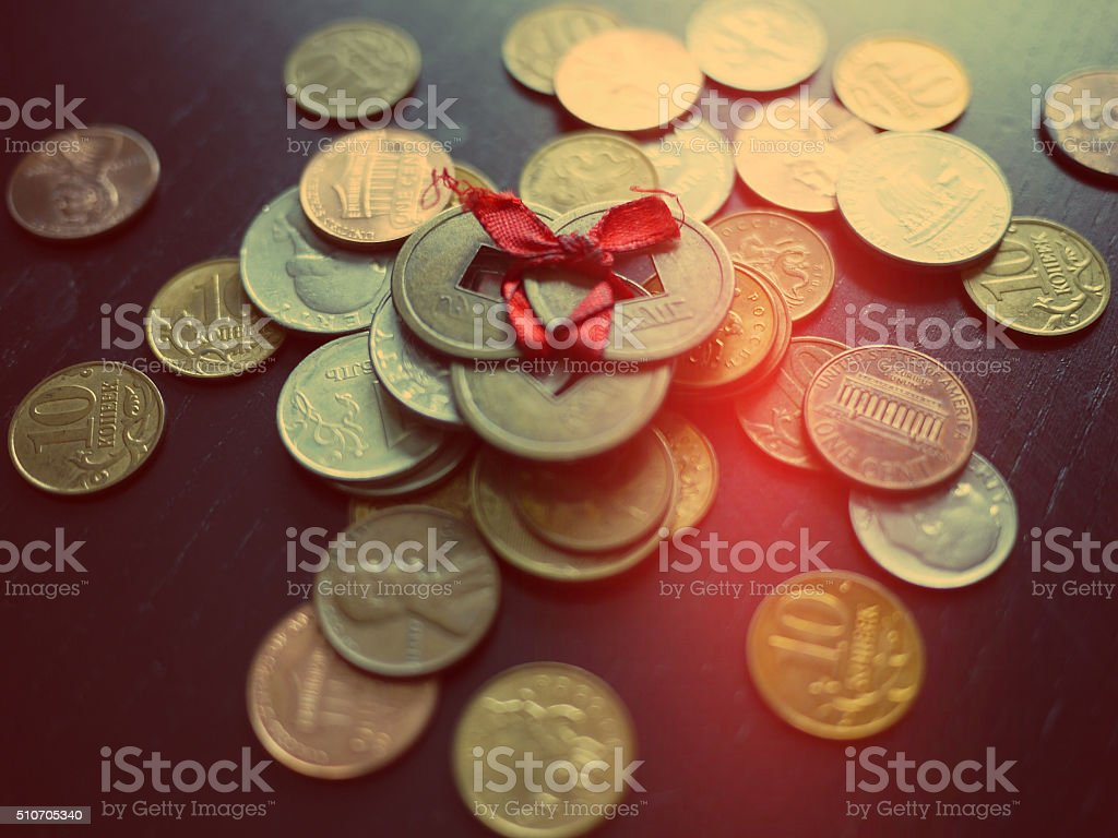 Creative photo of currency money. stock photo