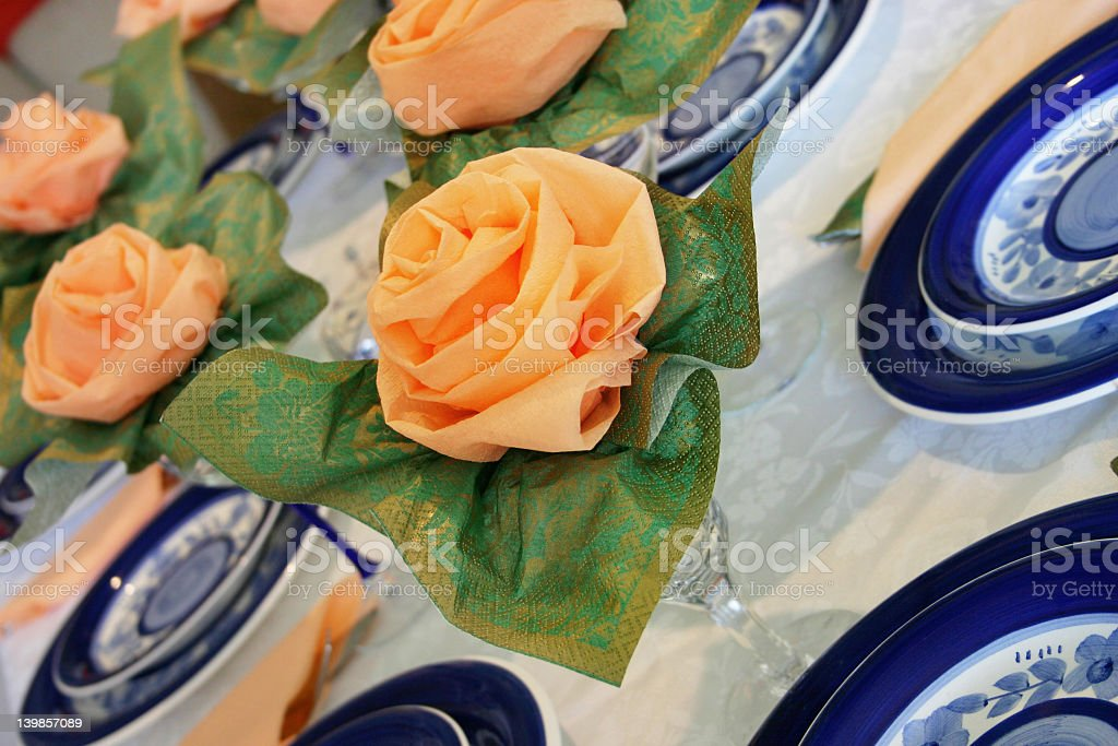 Creative place setting stock photo