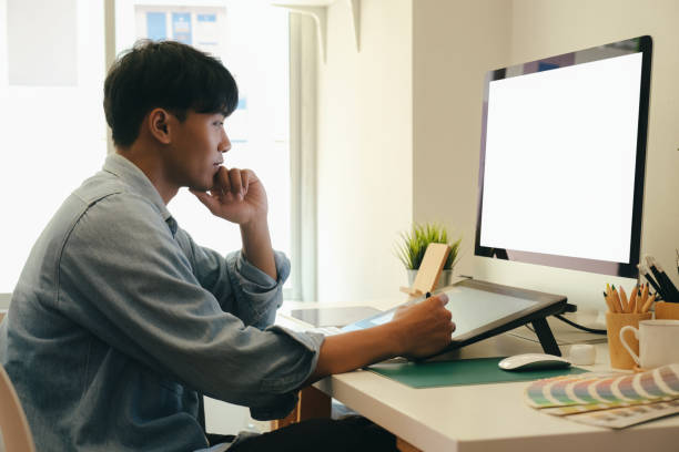 diseño de estructura alámbrica de diseño de diseño de aplicaciones de planificación creativa. - website design fotografías e imágenes de stock